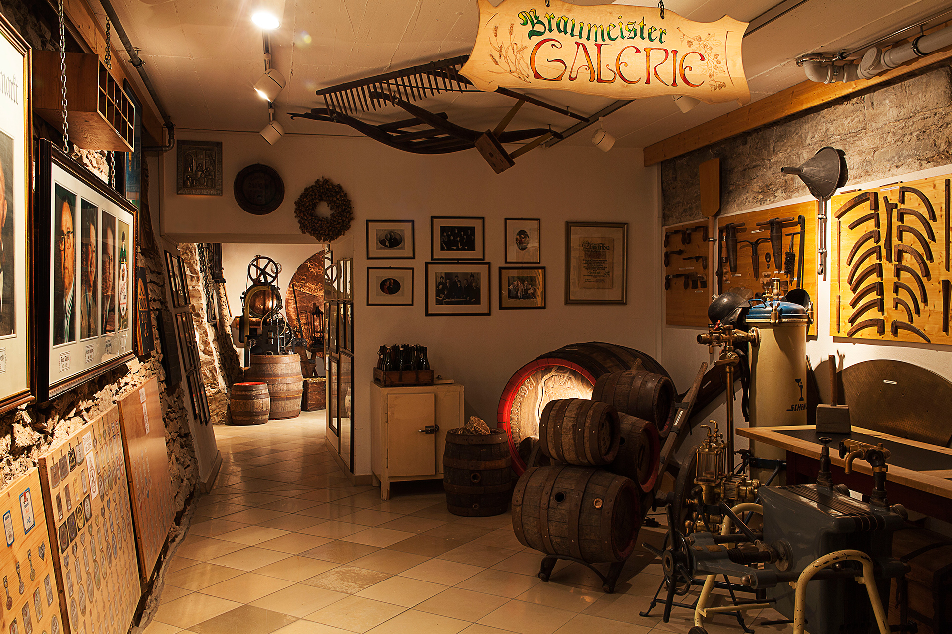 Raum im Brauereimuseum