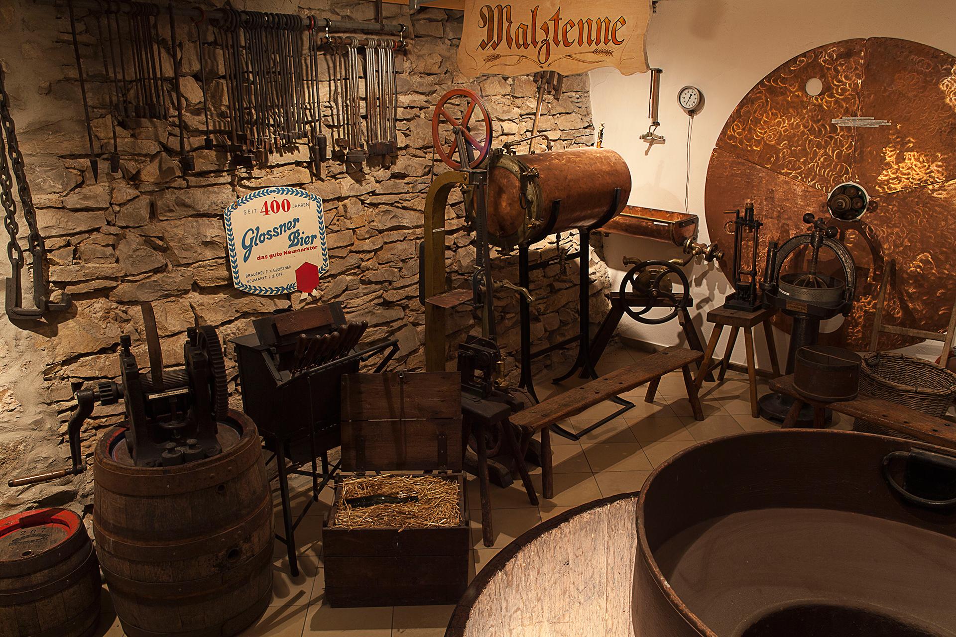 Malzetenne im Brauereimuseum